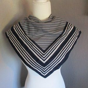 Navy blue striped scarf